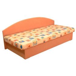 Celočalúnená váľanda s molitánovým matracom, oranžová+vzor, EDO 3