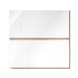 Horná skrinka G 60 U, vysoký biely lesk/dub sonoma, LINE
