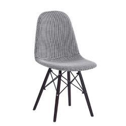 Jedálenská stolička, čierna/biela, AMPERA, poškodený tovar
