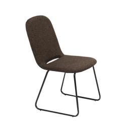 Jedálenská stolička, hnedá/čierna, ADLAN