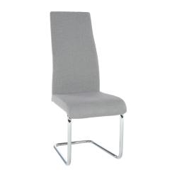 Jedálenská stolička, látka svetlosivá/chróm, AMINA