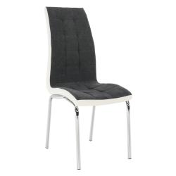 Jedálenská stolička, tmavosivá/biela, GERDA NEW