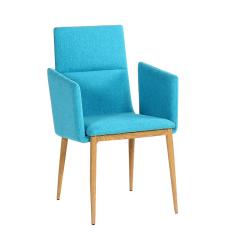 Jedálenská stolička, tyrkysová/prírodná, JENNER