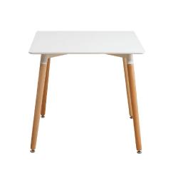 Jedálenský stôl, biela/buk, DIDIER  3 NEW