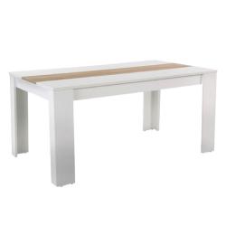 Jedálenský stôl, biela/dub sonoma, RADIM NEW