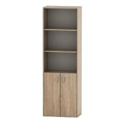 Kancelárska skrinka so zámkom, dub sonoma, TEMPO ASISTENT NEW 002