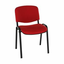 Kancelárska stolička, červená, ISO NEW C-16
