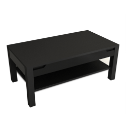 Konferenčný stolík, čierna/čierna s extra vysokým leskom, ADONIS AS 96