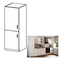 Kuchynská skrinka na vstavanú chladničku D60ZL, ľavá, biela/sosna Andersen, SICILIA
