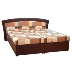 Manželská posteľ, sendvičová, hnedá, RONA