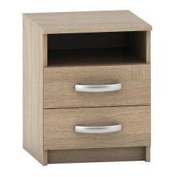 Nočný stolík s 2 šuplíkmi, dub sonoma, BETTY 2 BE02-018-00