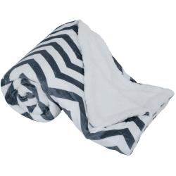 Obojstranná baránková deka, geometrický vzor, 150x200, FUTURO