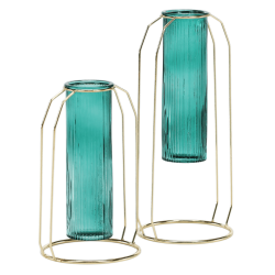 Set dvoch váz, smaragdová/zlatá,  ROSEIN TYP 1