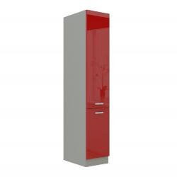 Skrinka potravinová vysoká, červený vysoký lesk, PRADO 40 DK-210 2F
