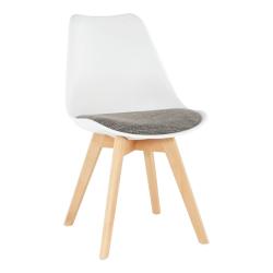 Stolička, biela/verzo hnedá, DAMARA