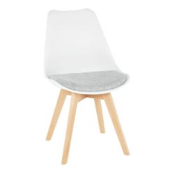 Stolička, biela/verzo sivá, DAMARA