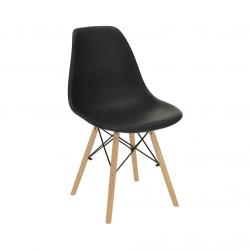 Stolička, čierna/buk, CINKLA 3 NEW