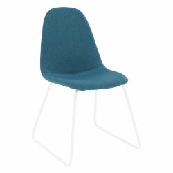 Stolička, látka modrá/kov, ONTARI
