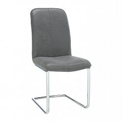 Stolička, látka sivá/chróm, VERMONA TYP 3