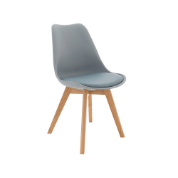 Stolička, sivá/buk, BALI 2 NEW