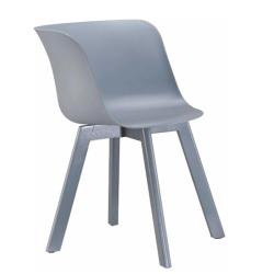 Stolička, sivá/buk v sivej farbe, LEVIN