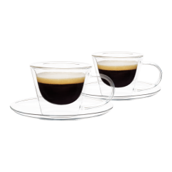 Termo pohár šálka na espresso s podšálkami, 2ks, 80ml, HOTCOOL TYP 4