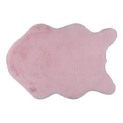 Umelá kožušina, ružová, 60x90, RABIT TYP 5