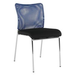 Zasadacia stolička, modrá/čierna/chróm, ALTAN